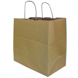 Bolsa Papel Kraft Marron con Asas 100g 30+18x29cm (25 Uds)